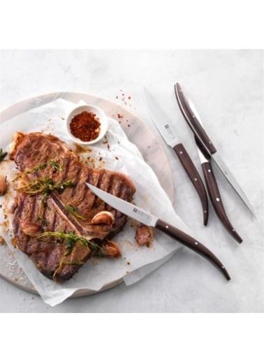 Zwilling 4'Lü Koyu Ahşap Saplı Steak Bıçağı Seti Kahve